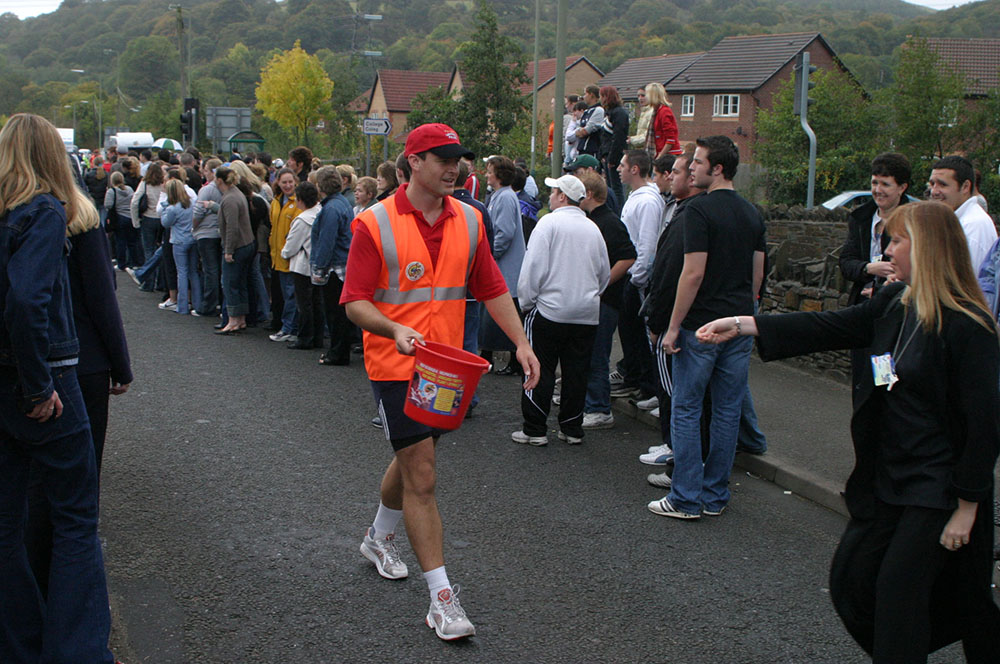 2003 - 9 Valleys Walk in Wales - Chepstow - Newport - 280 miles